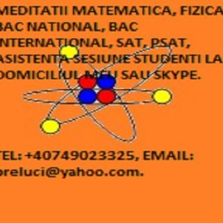 Matematica, fizica Bac National, Bac International prin Skype