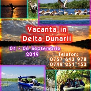 Delta Dunarii 01-06 Septembrie 2019 natura, liniste, distractie