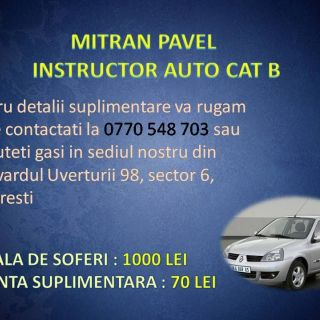 Instructor auto cat B SECTOR 5